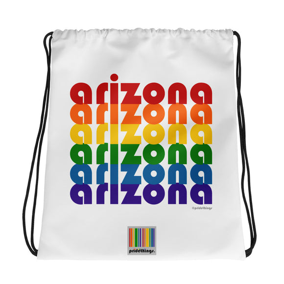 Arizona Pride Rainbow Drawstring Bag by Pridethings™