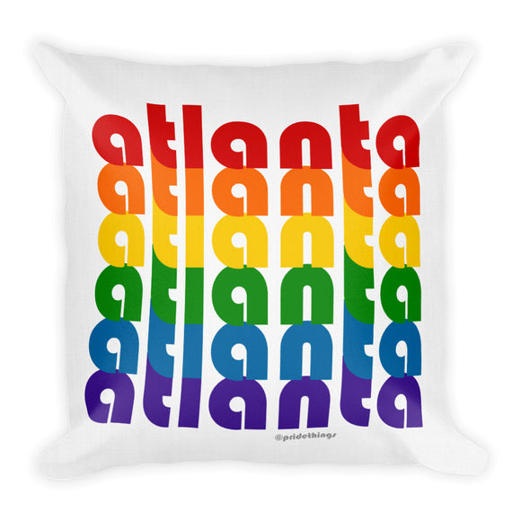 Atlanta Pride Rainbow Throw Pillows by Pridethings™ ~ Square or Rectangular
