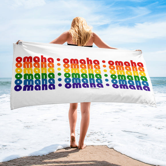 Omaha Pride Rainbow Towel by Pridethings™