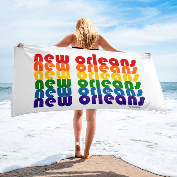 New Orleans Pride Rainbow Towel by Pridethings™