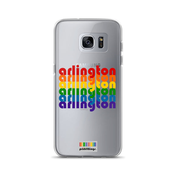Arlington Pride Clear Samsung Galaxy Phone Cases by Pridethings™