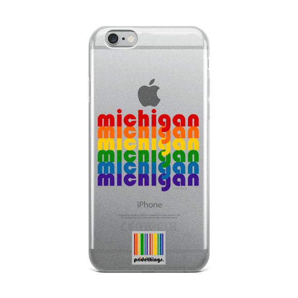 Michigan Pride Clear iPhone Cases by Pridethings™