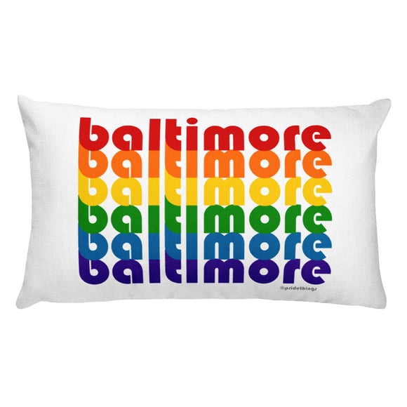Baltimore Pride Rainbow Throw Pillows by Pridethings™ ~ Square or Rectangular
