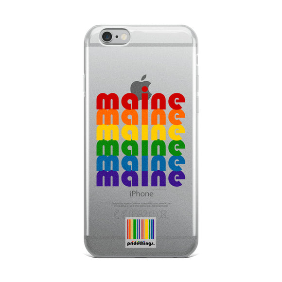 Maine Pride Clear iPhone Cases by Pridethings™