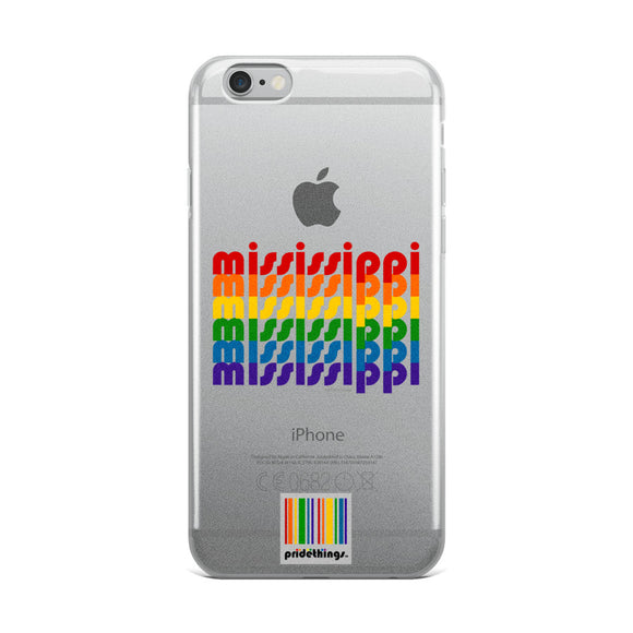 Mississippi Pride Clear iPhone Cases by Pridethings™