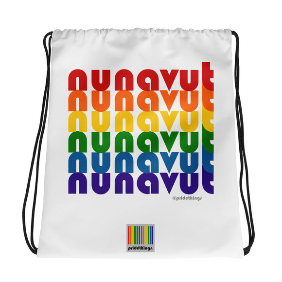 Nunavut Pride Rainbow Drawstring Bag by Pridethings™