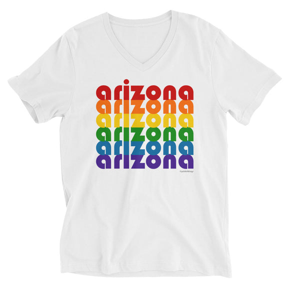 Arizona Pride Rainbow Unisex Short-Sleeve V-Neck T-Shirt by Pridethings™