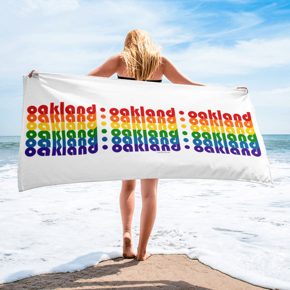 Oakland Pride Rainbow Towel by Pridethings™