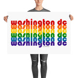 Washington DC Pride Rainbow Posters by Pridethings™ ~ 11 Sizes