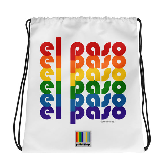 El Paso Pride Rainbow Drawstring Bag by Pridethings™