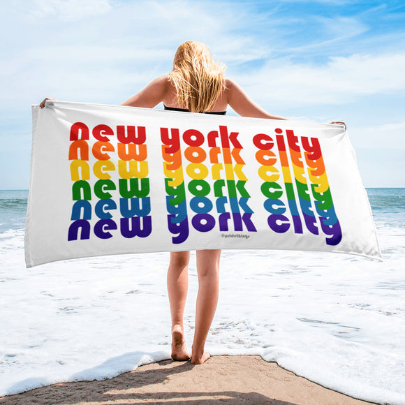 New York City Pride Rainbow Towel by Pridethings™