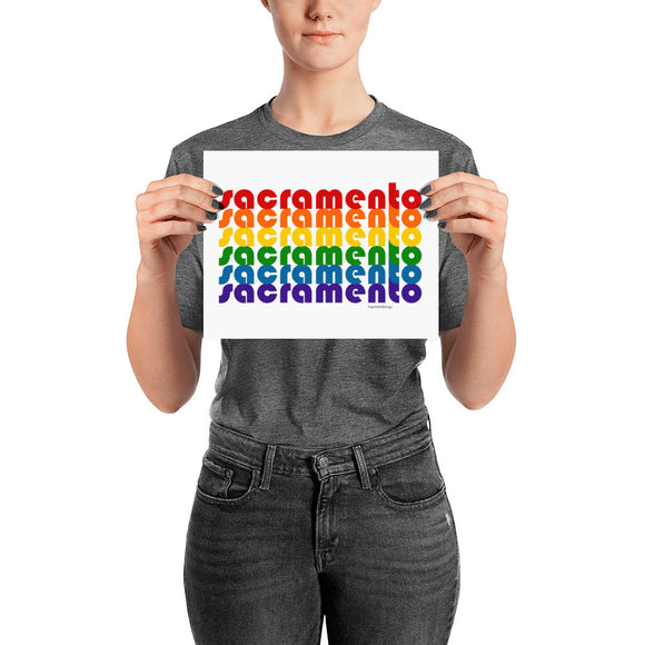 Sacramento Pride Rainbow Posters by Pridethings™ ~ 11 Sizes