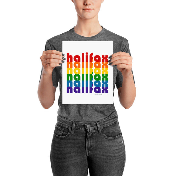 Halifax Pride Rainbow Posters by Pridethings™ ~ 11 Sizes