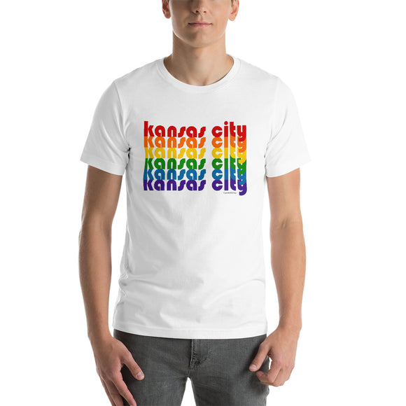Kansas City Pride Rainbow Short-Sleeve Unisex T-Shirt by Pridethings™