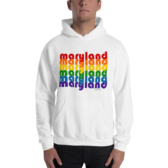 Maryland Pride Rainbow Comfy Hoodie - Hooded Sweatshirt by Pridethings™
