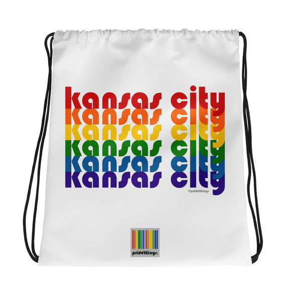 Kansas City Pride Rainbow Drawstring Bag by Pridethings™