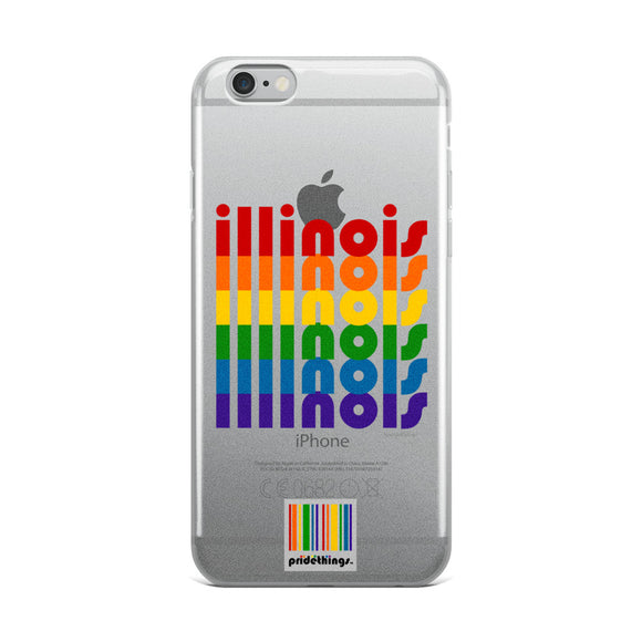 Illinois Pride Clear iPhone Cases by Pridethings™