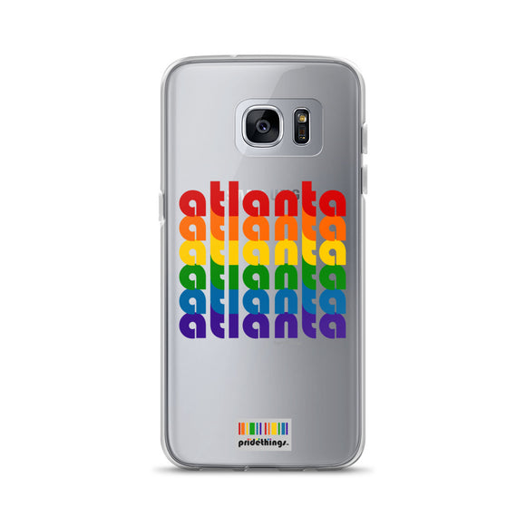 Atlanta Pride Clear Samsung Galaxy Phone Cases by Pridethings™