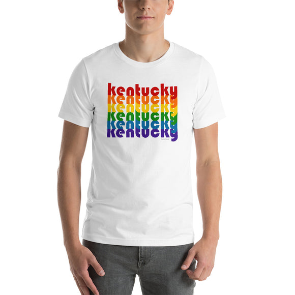 Kentucky Pride Rainbow Short-Sleeve Unisex T-Shirt by Pridethings™