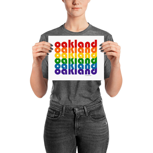 Oakland Pride Rainbow Posters by Pridethings™ ~ 11 Sizes