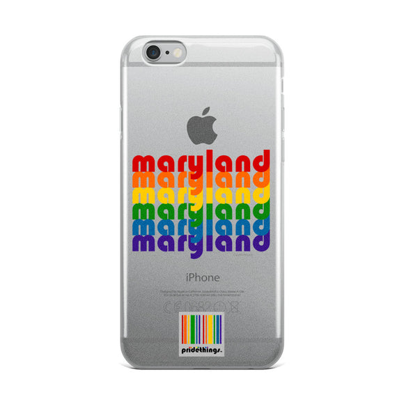 Maryland Pride Clear iPhone Cases by Pridethings™