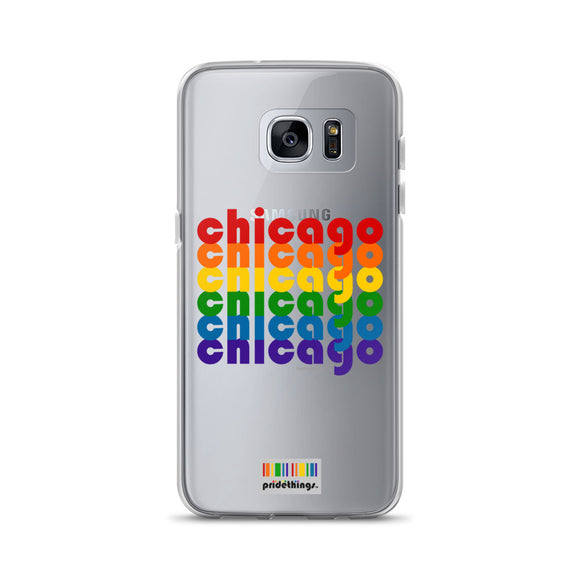 Chicago Pride Clear Samsung Galaxy Phone Cases by Pridethings™