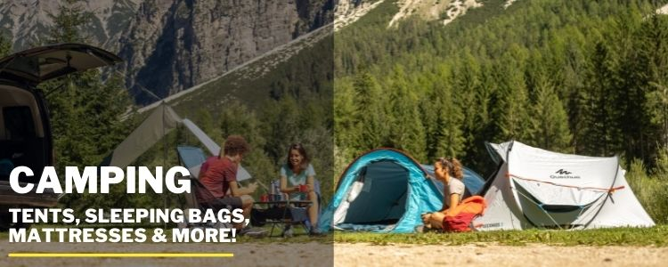 Camping mobile banner