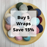 YOU PICK 5 Wraps - Newborn Stretch Jersey Wraps Bundle