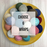 YOU PICK 6 Wraps - Newborn Stretch Jersey Wraps Bundle