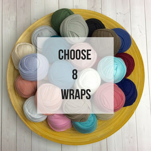 YOU PICK 8 Wraps - Newborn Stretch Jersey Wraps Bundle