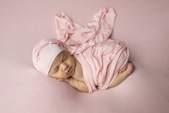 Blush Pink Jersey Newborn Posing Fabric with Optional Wrap