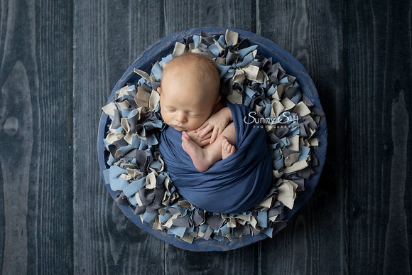 Denim Blue Newborn Stretch Wrap