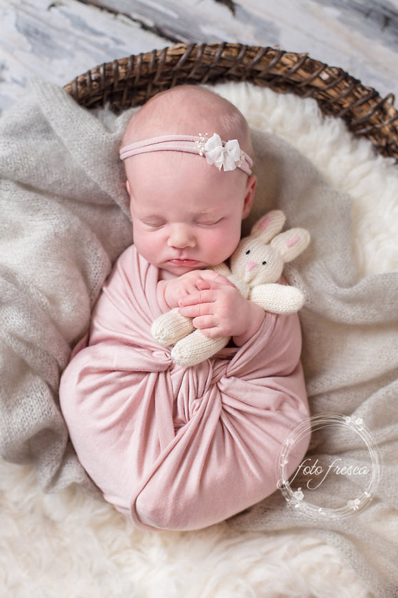 Dusty Pink Newborn Stretch Wrap