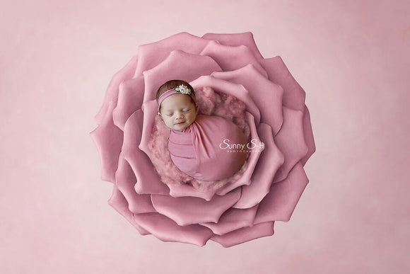 Dusty Rose Newborn Stretch Wrap