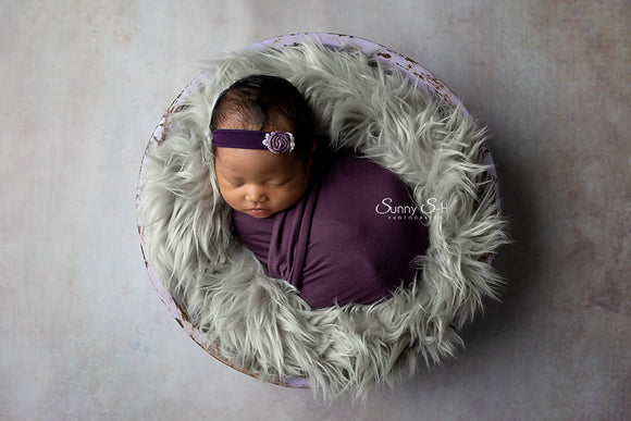 Plum Purple Newborn Stretch Wrap