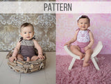 Girl Sitter Romper Pattern & Tutorial