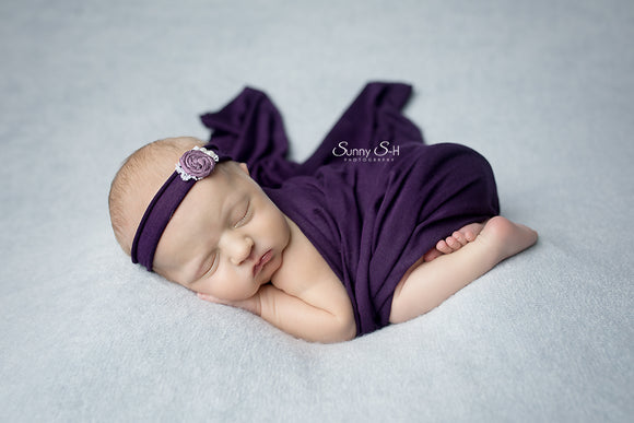 Eggplant Newborn Stretch Wrap