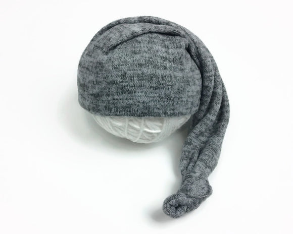 Dark Grey Variegated Newborn Sleepy Hat
