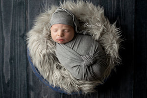 Medium Heathered Grey Newborn Stretch Wrap