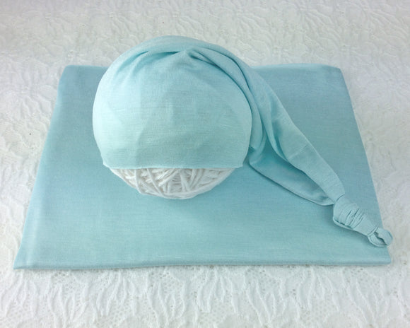 Ice Blue Newborn Stretch Wrap
