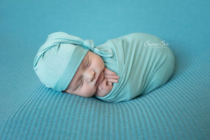 Lagoon Green Newborn Stretch Wrap