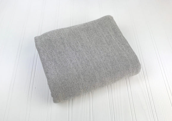 Light Grey Variegated Sweater Knit Newborn Posing Fabric