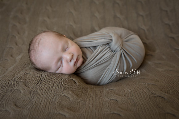Mocha Newborn Stretch Wrap