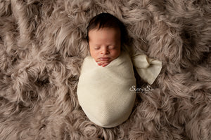 Natural Textured Knit Newborn Wrap