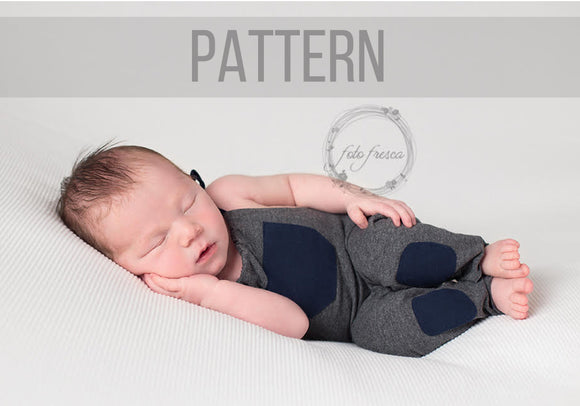 Newborn Photo Prop Romper Sewing Pattern & Tutorial