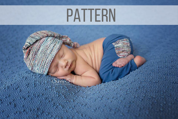 Newborn Photo Prop Hat and Pants Sewing Pattern & Tutorial