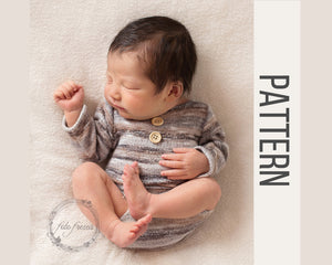 Newborn Romper with Sleeves Pattern & Tutorial