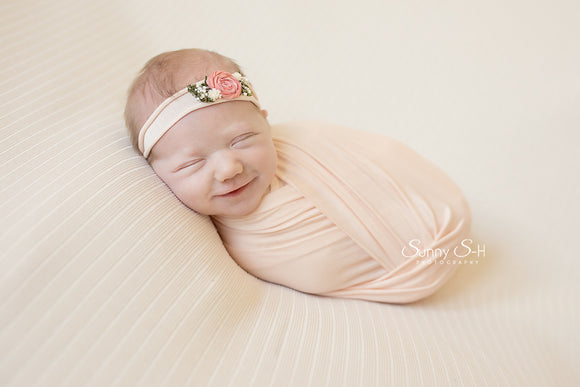 Peachy Pink Newborn Stretch Wrap