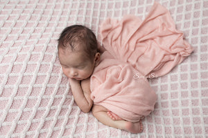 Light Pink Textured Knit Newborn Wrap