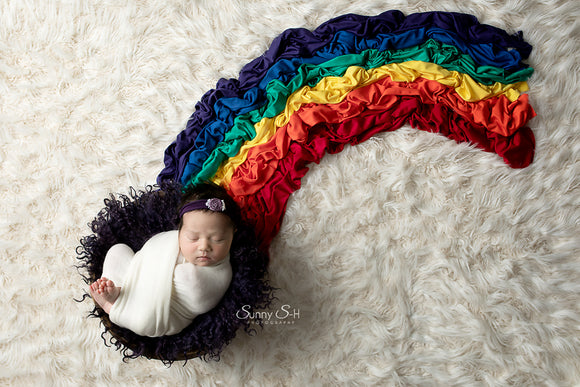 Rainbow Baby Photo Prop Wrap Set